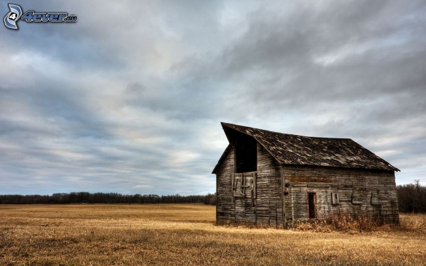 Hütte, verlassenen Haus