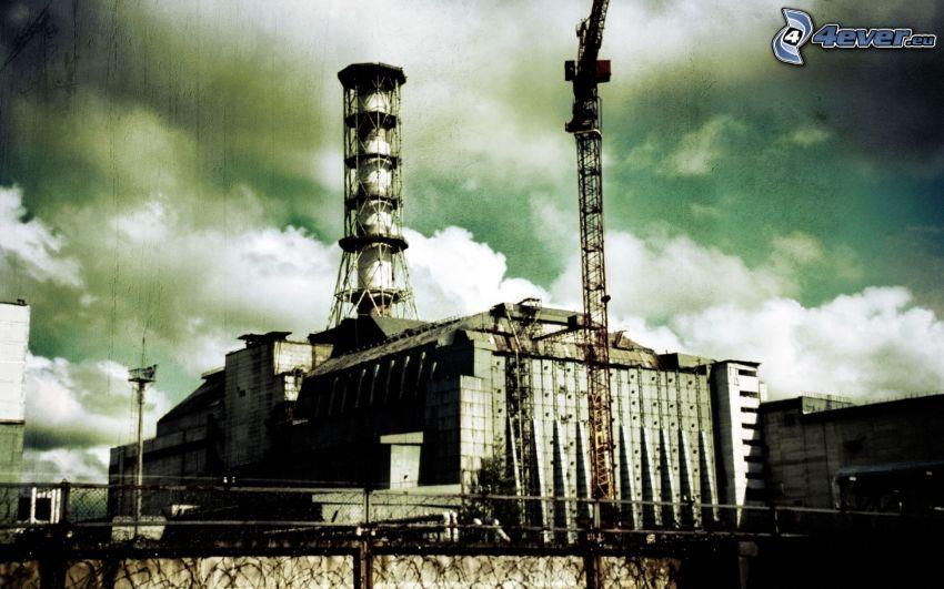 Kernkraftwerk, Tschornobyl, Wolken