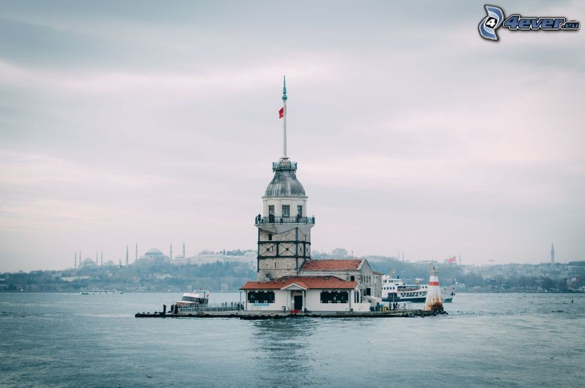 Kiz Kulesi, Meer, Insel