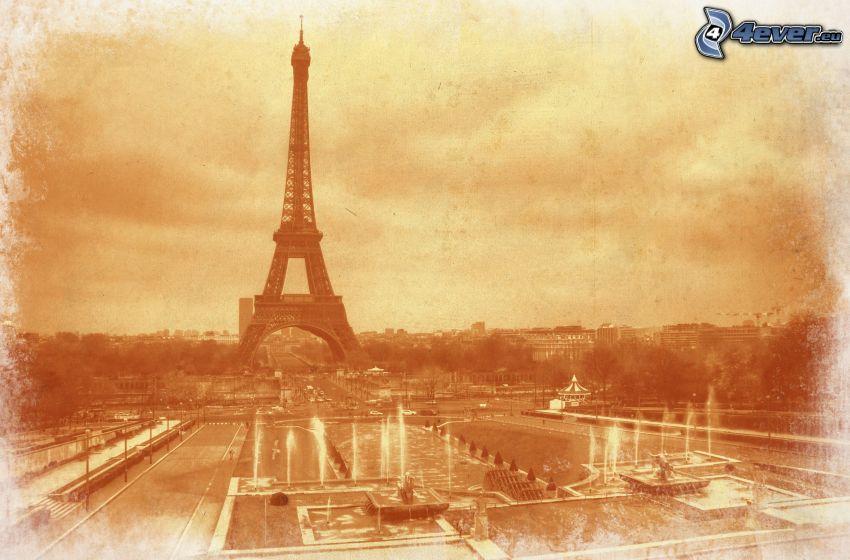 Eiffelturm, Springbrunnen