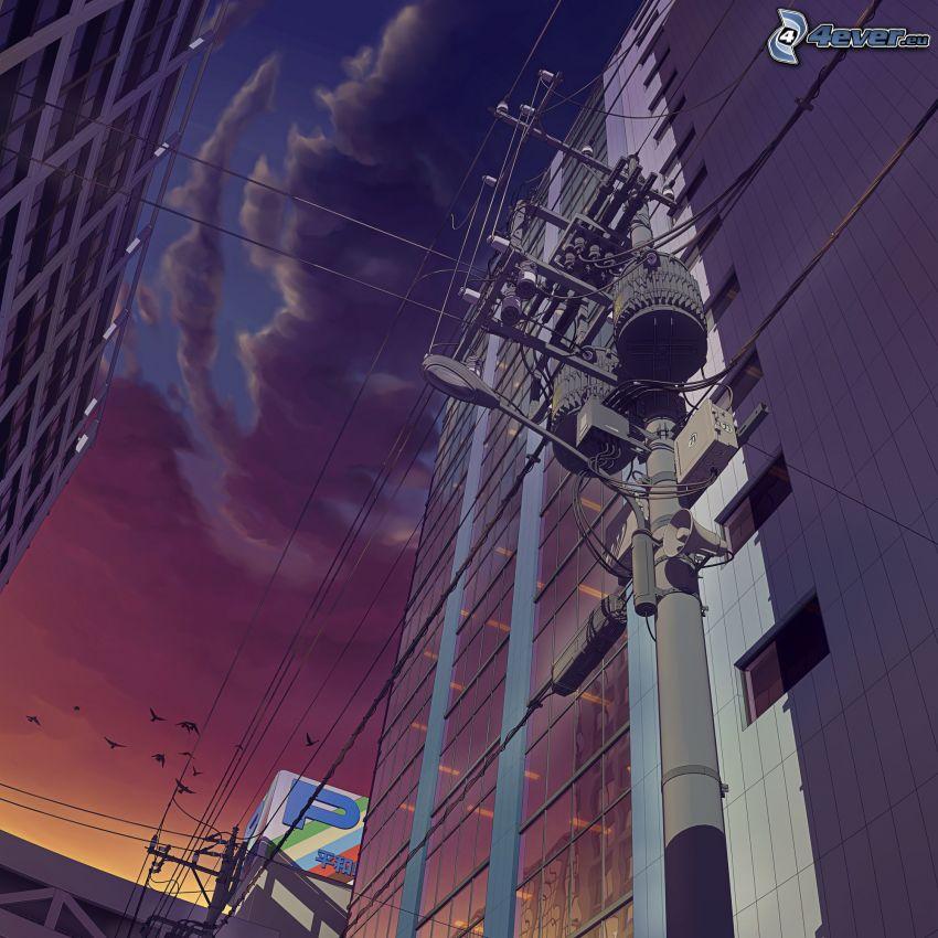 Gebäude, elektrische Leitung