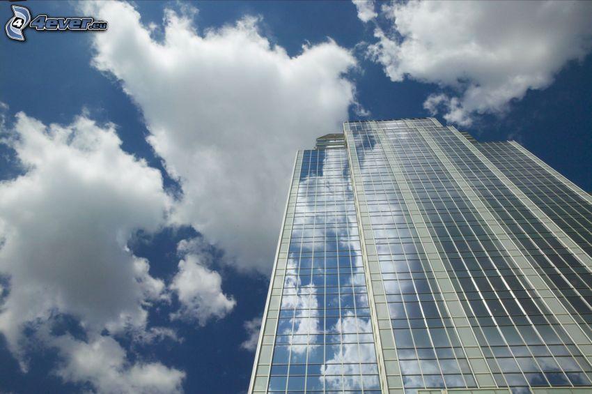 Gebäude, Glas, Wolken, Himmel