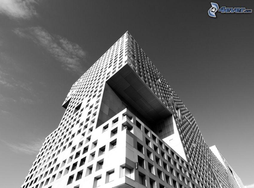 Gebäude, schwarzweiß