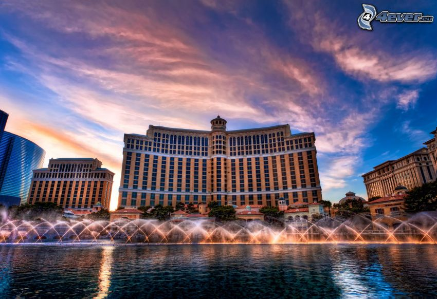 hotel Bellagio, Las Vegas, Springbrunnen