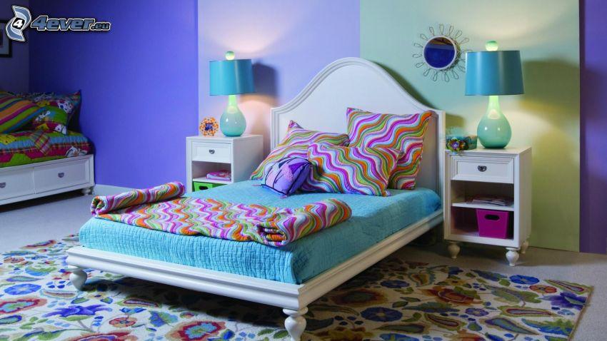 Kinderzimmer, Bett