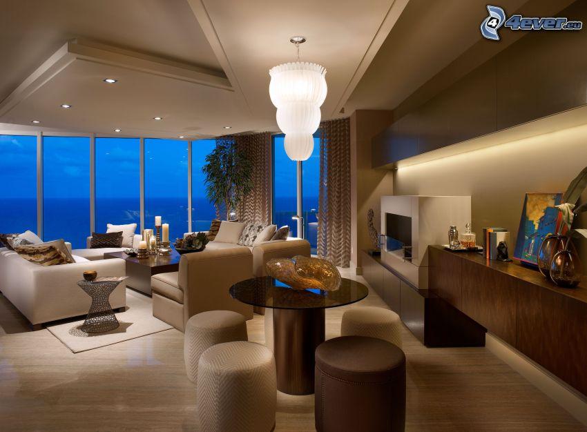 luxuriöses Wohnzimmer
