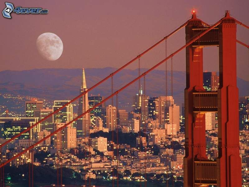 San Francisco, Golden Gate, Mond