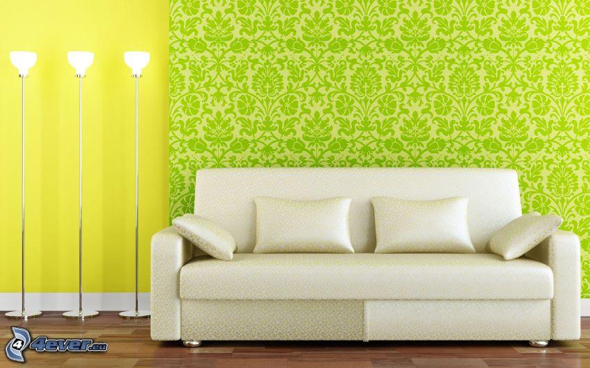 Sofa, Lampen