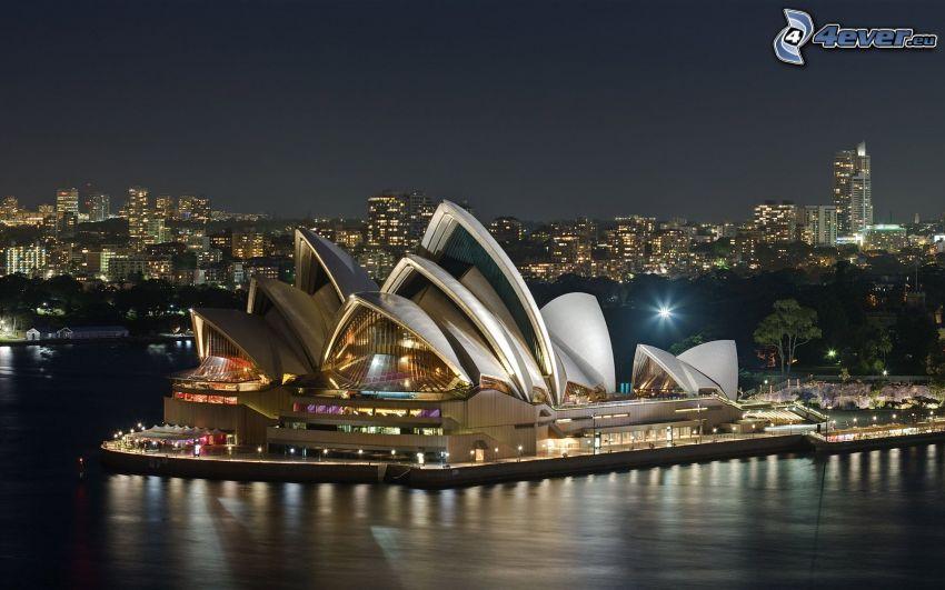 Sydney Opera House, Nacht, City