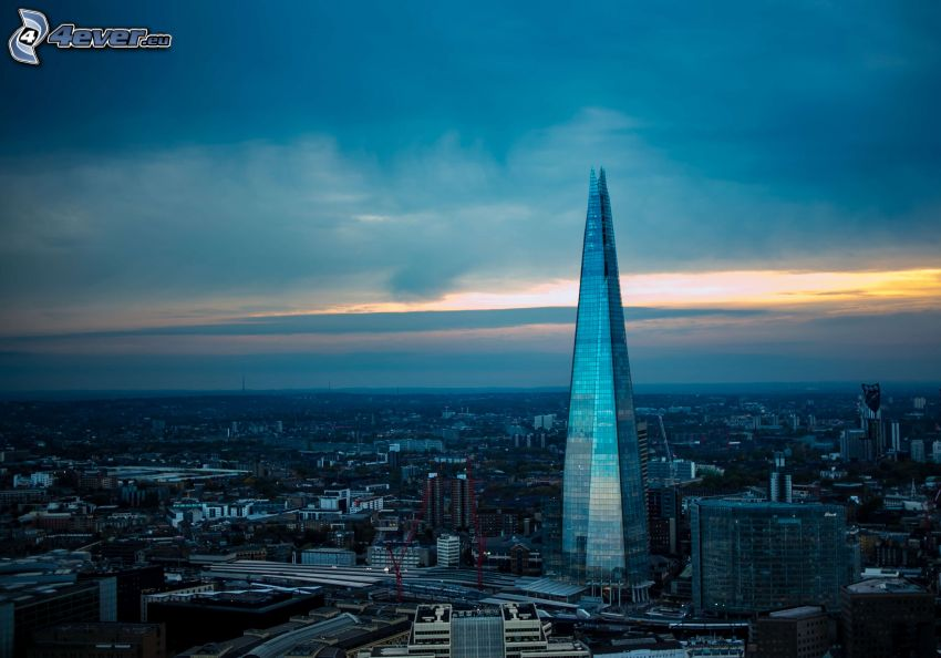 The Shard, London, abendliche Stadt