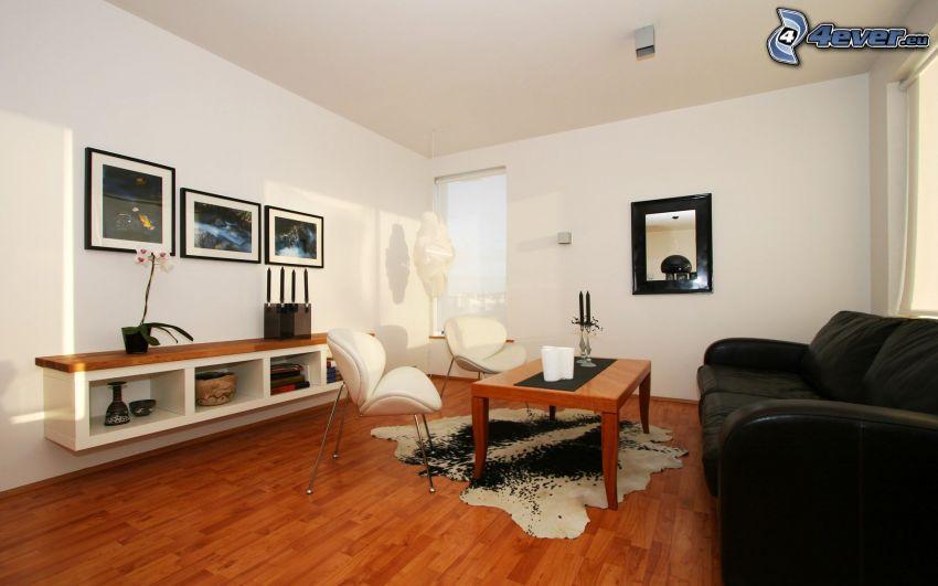 Wohnzimmer, Couch, Armstühle