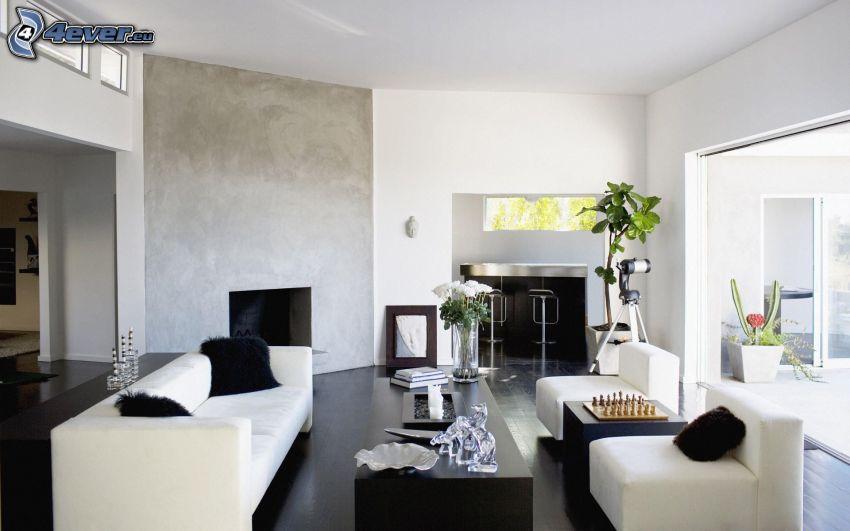 Wohnzimmer, Sofa, Armstühle