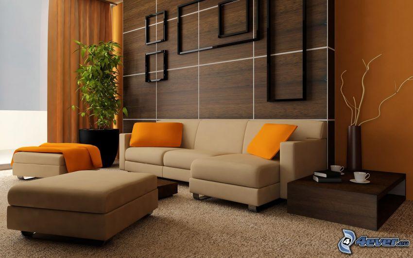 Wohnzimmer, Sofa