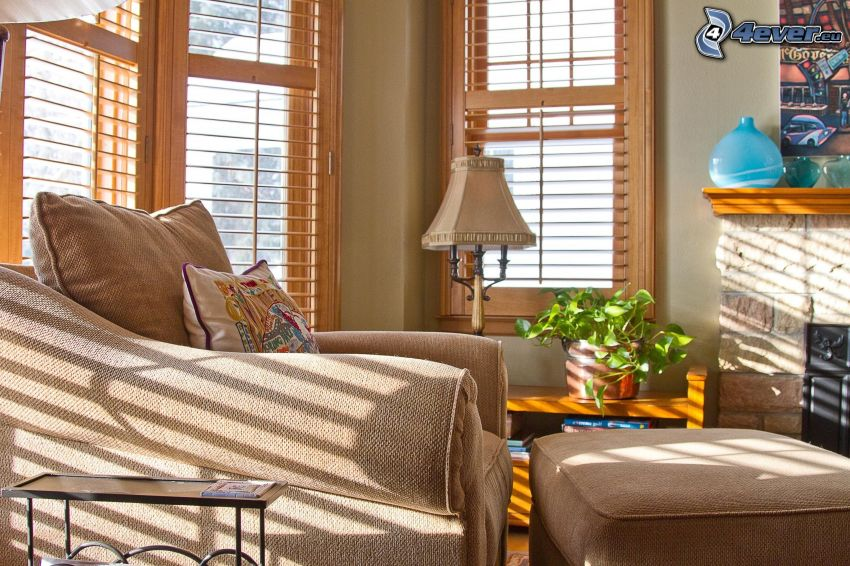 Wohnzimmer, Stuhl, Fenster
