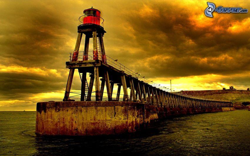 Molo mit dem Leuchtturm, Meer