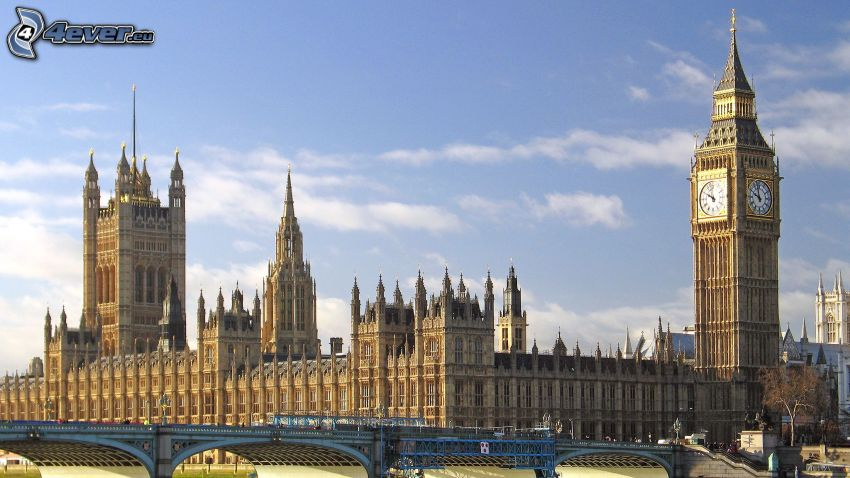 Palace of Westminster, Big Ben, britisches Parlament, London