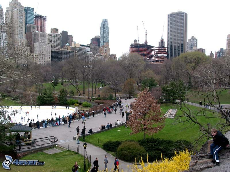 Central Park, Wolkenkratzer