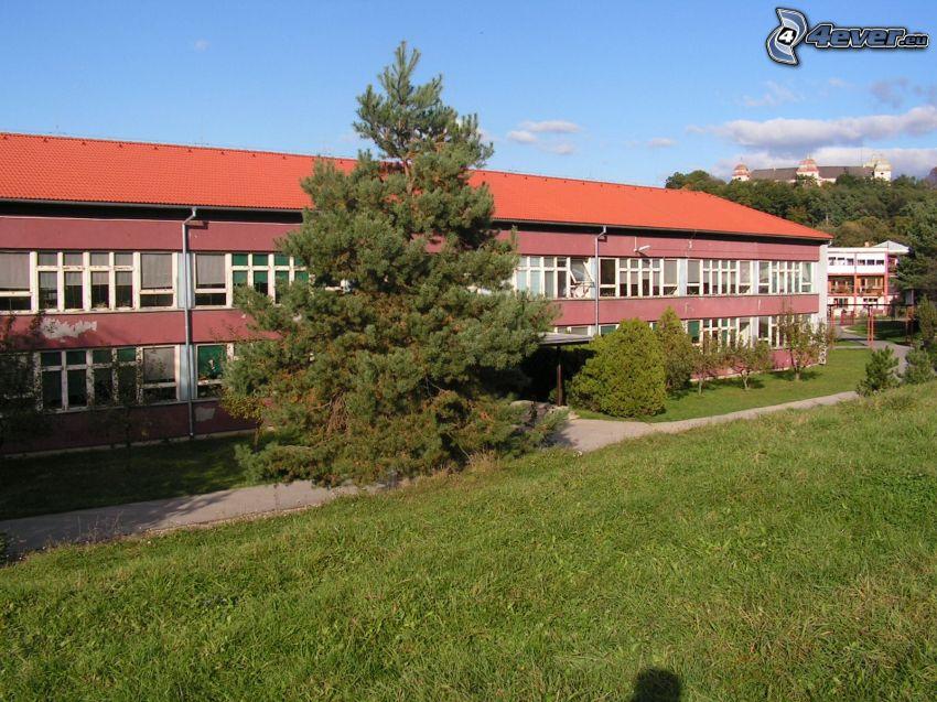 Schule, Gebäude, Schloss