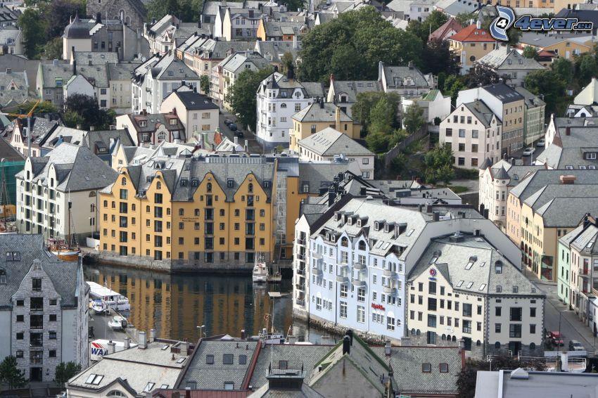 Ålesund, Norwegen, Häuser