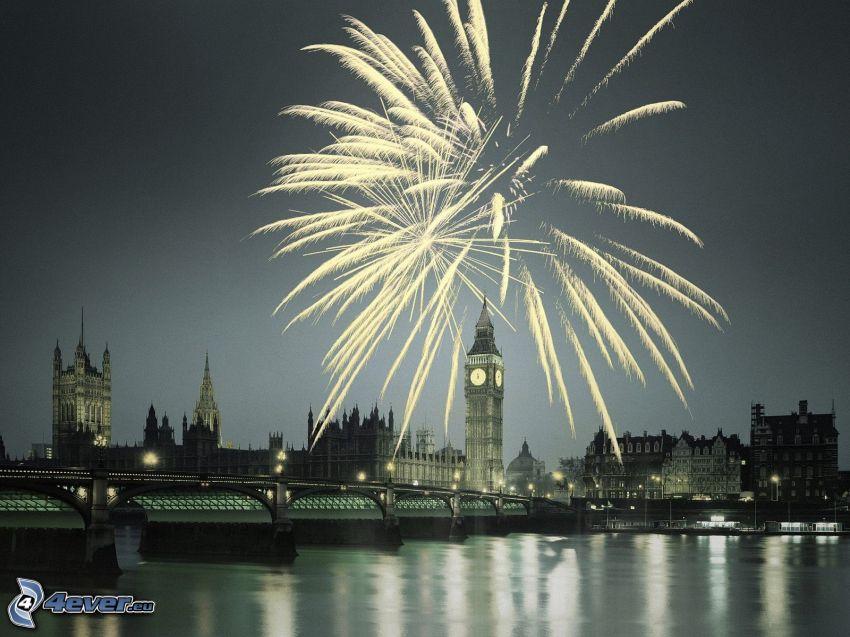 Big Ben, Feuerwerk, London