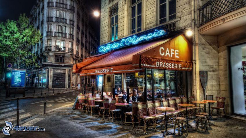 Café, Restaurant, Straße, HDR
