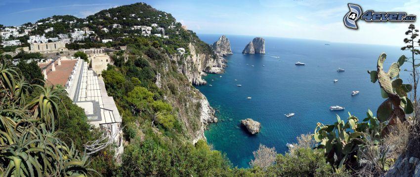 Capri, Italien, Küstenstadt