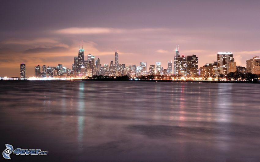 Chicago, abendliche Stadt