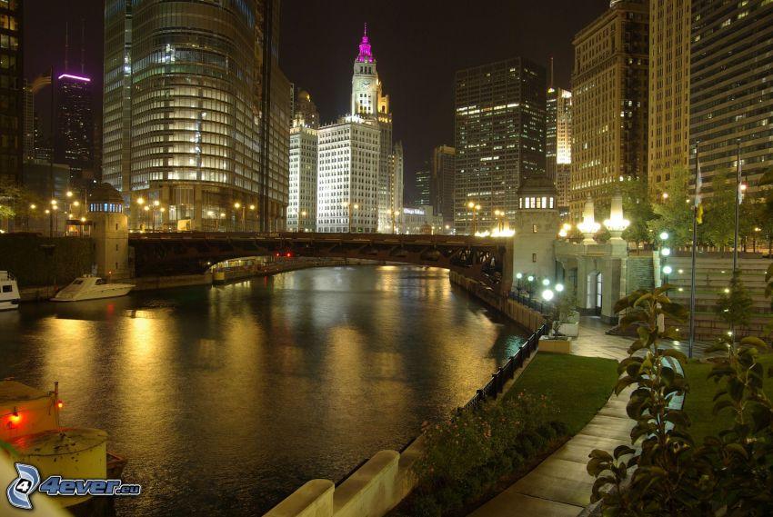 Chicago, Wolkenkratzer, Fluss