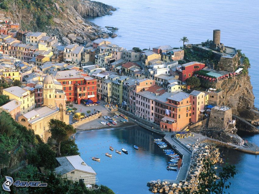 Cinque Terre, Ligurien, Italien, Küstenstadt