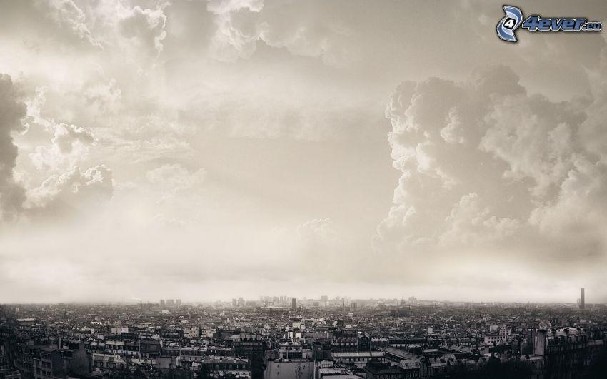 City, Wolken