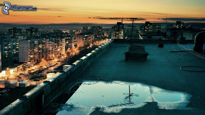 Dach, Nachtstadt, Gehäuse