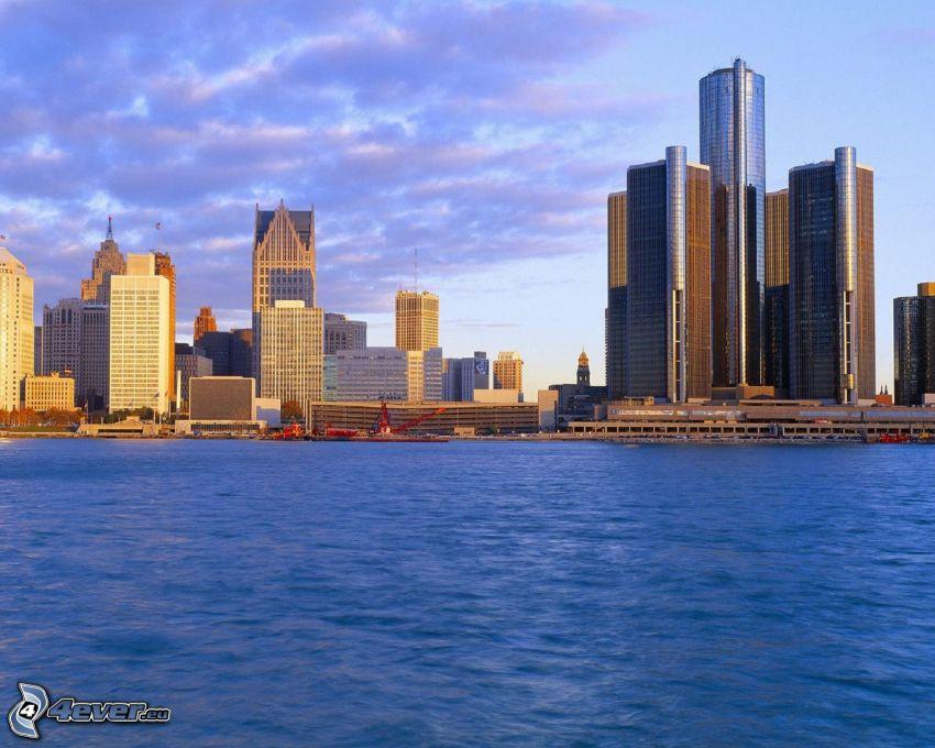 Detroit, Wolkenkratzer, Meer