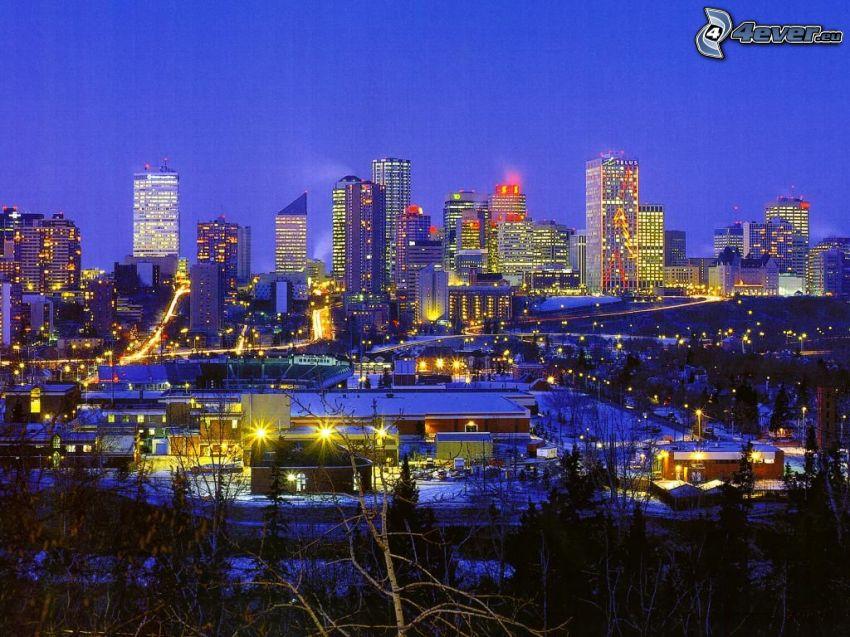 Edmonton, abendliche Stadt