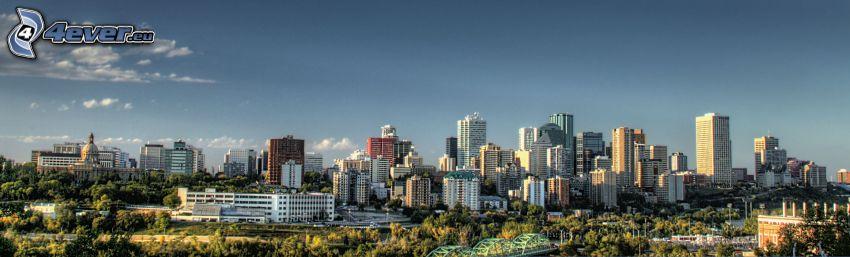Edmonton, Wolkenkratzer, Panorama