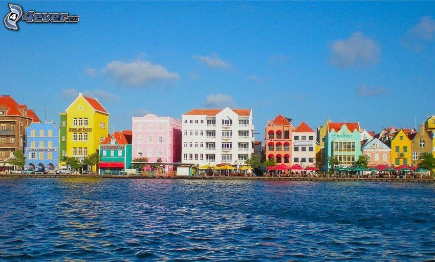 farbige Häuser, Curaçao