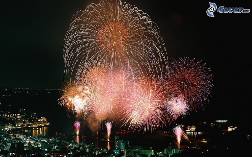 Feuerwerk, Nacht