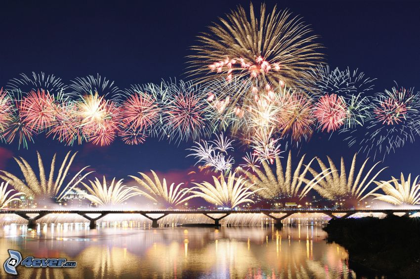 Feuerwerk, Nachtstadt