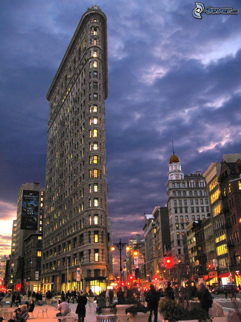 Flatiron, Manhattan, Straße, abendliche Stadt