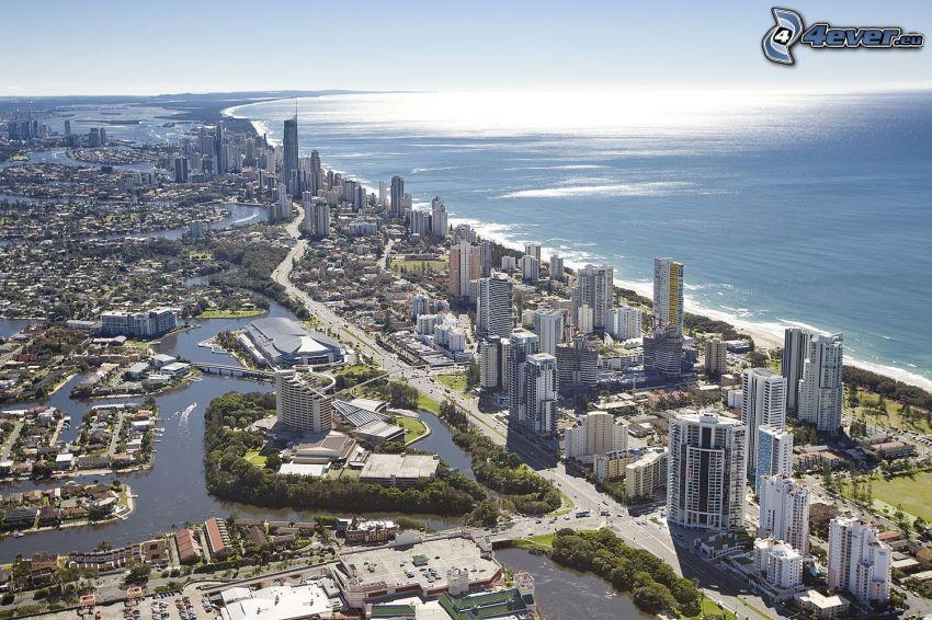Gold Coast, Wolkenkratzer, Meer