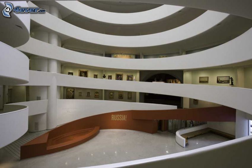 Guggenheim Museum, Innenraum
