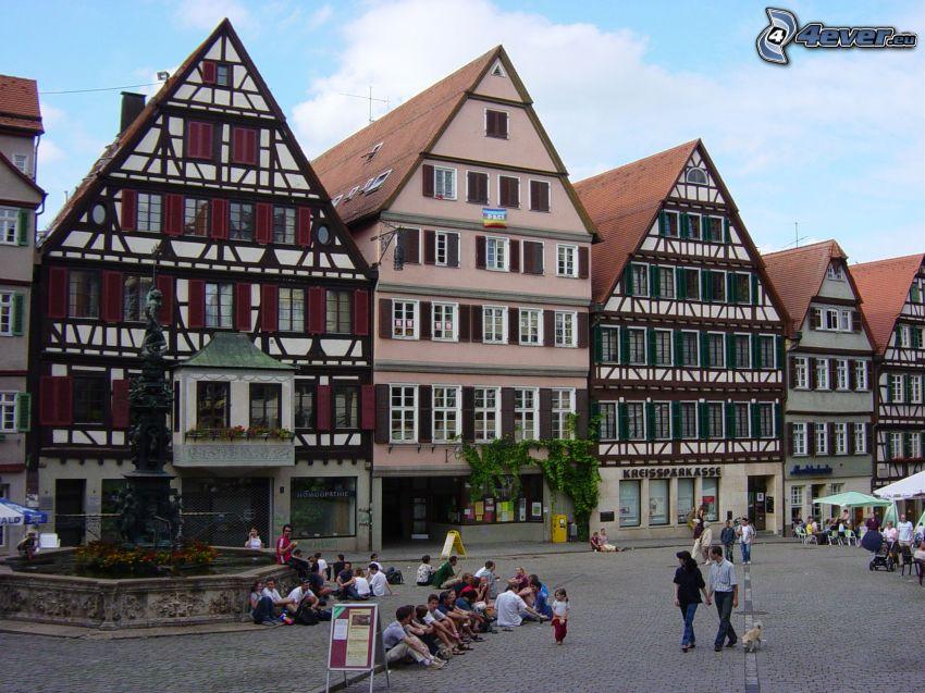 Häuser, Straße, Deutschland