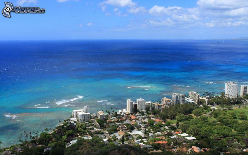 Honolulu, Küstenstadt, Meer