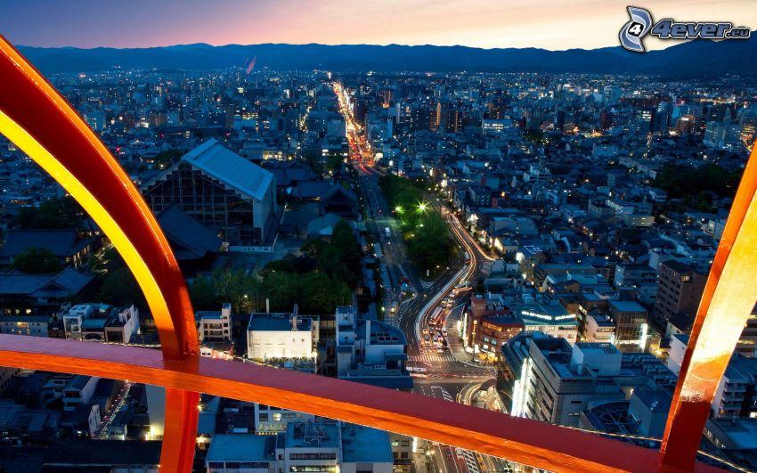 Kyōto, abendliche Stadt