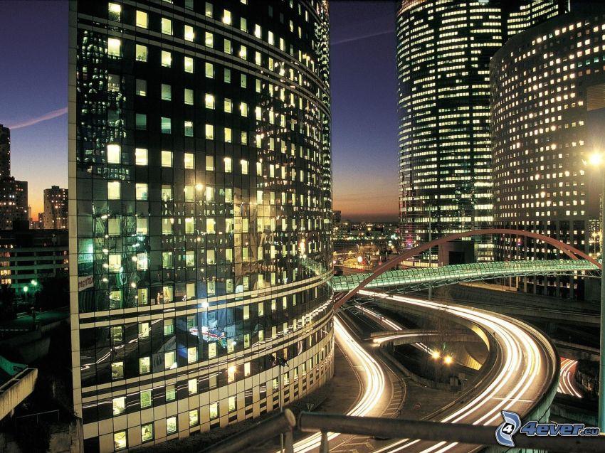 La Défense, Paris, Wolkenkratzer, Straßen