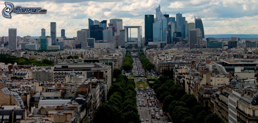 La Défense, Wolkenkratzer, Straße, Paris