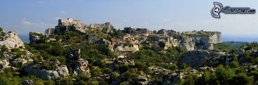 Les Baux de Provence, Felsen