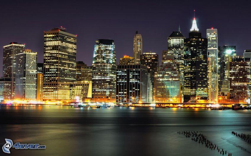 Manhattan, Nachtstadt, Wolkenkratzer