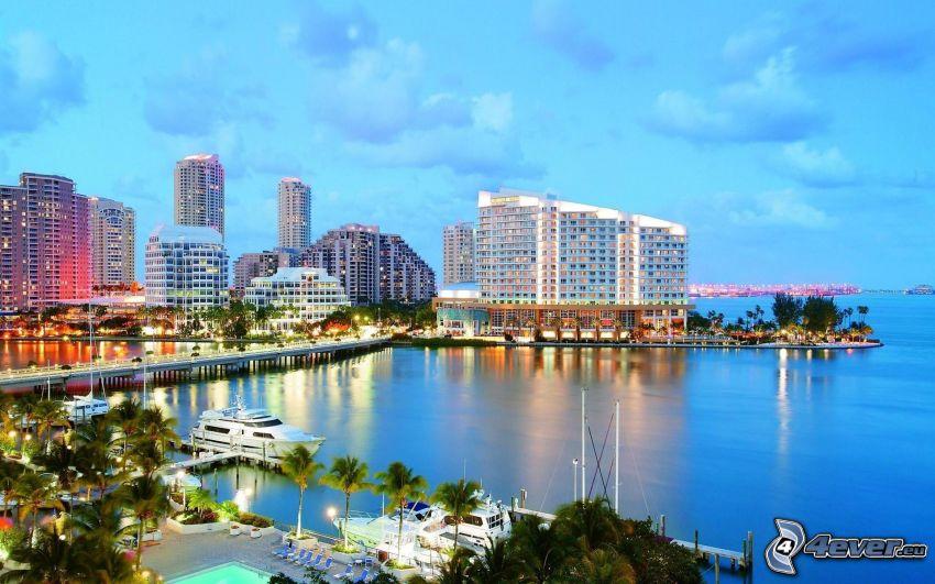 Miami, Wolkenkratzer, Hafen