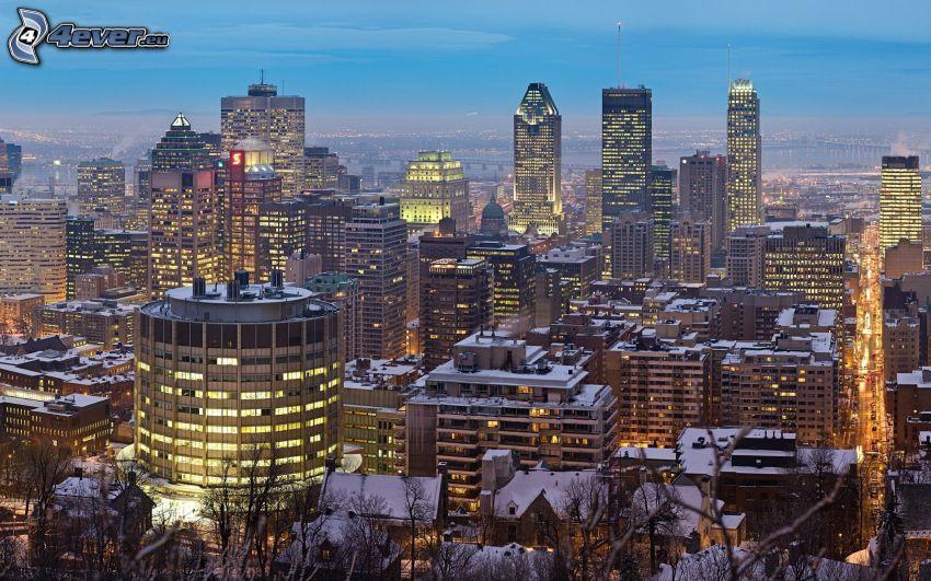 Montreal, abendliche Stadt