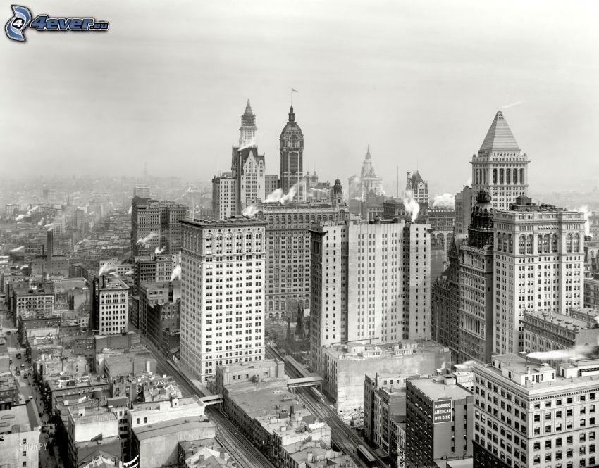 New York, altes Foto
